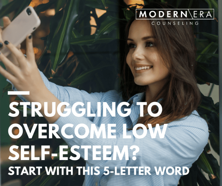Struggling to overcome low self-esteem? Start with this 5-letter word