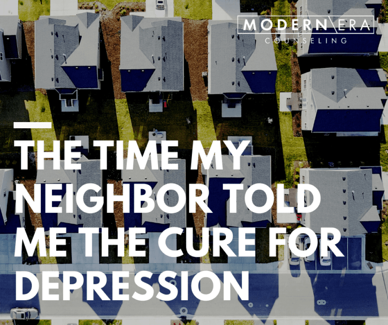 The time my neighbor told me the cure for depression